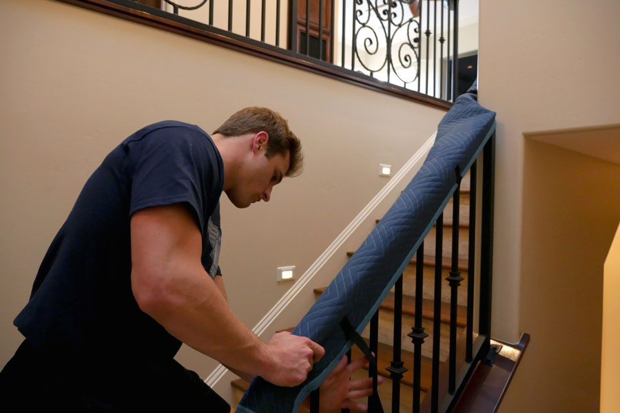 Applying banister protection