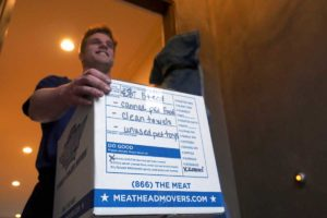 Meathead Movers will take your unwanted items and donate them to charity. Markup the do good box and do some good.